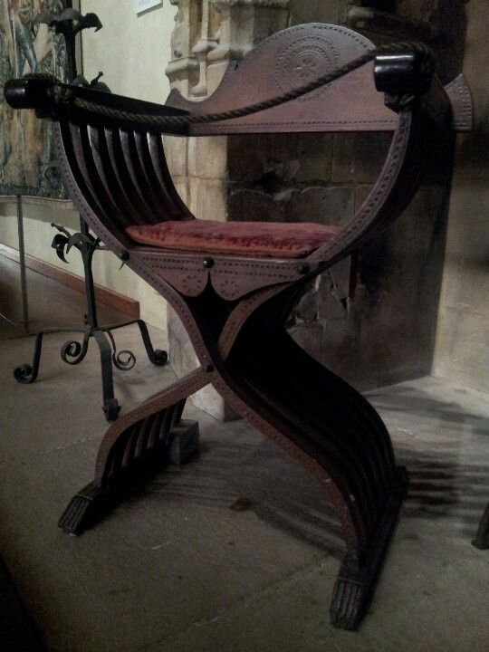 Handsome medieval chair at the cloisters