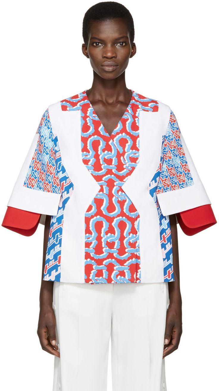 KENZO Tricolor Patterned Jacket. #kenzo #cloth #jacket