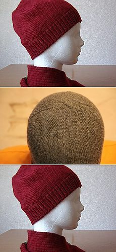 Вяжем шапочку клиньями на машине