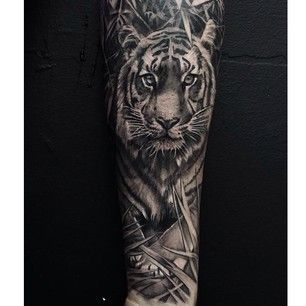 7907e14607fc2 Try a Tyger Tyger, burning bright. | Tatoos | Sleeve tattoos, Tiger ...