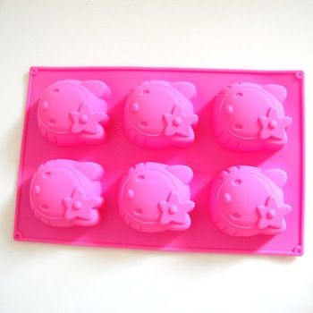 Hello Kitty Silicone Cake Muffin Mold Cupcake Pan SoapCake Tools  cakepins.com