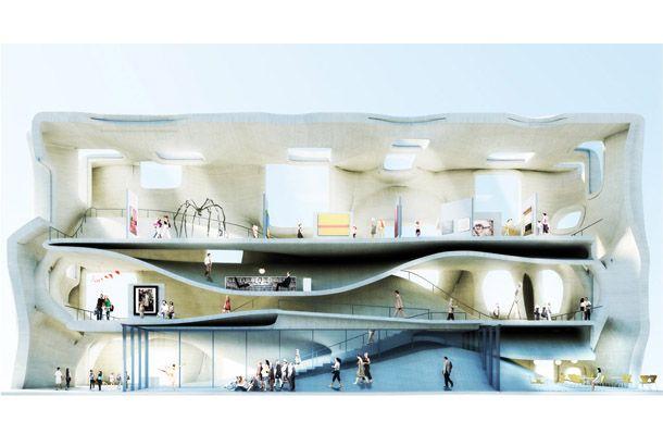 仕切りの無い建物!? フィンランドの美術館デザインコンペの応募作品がすごい