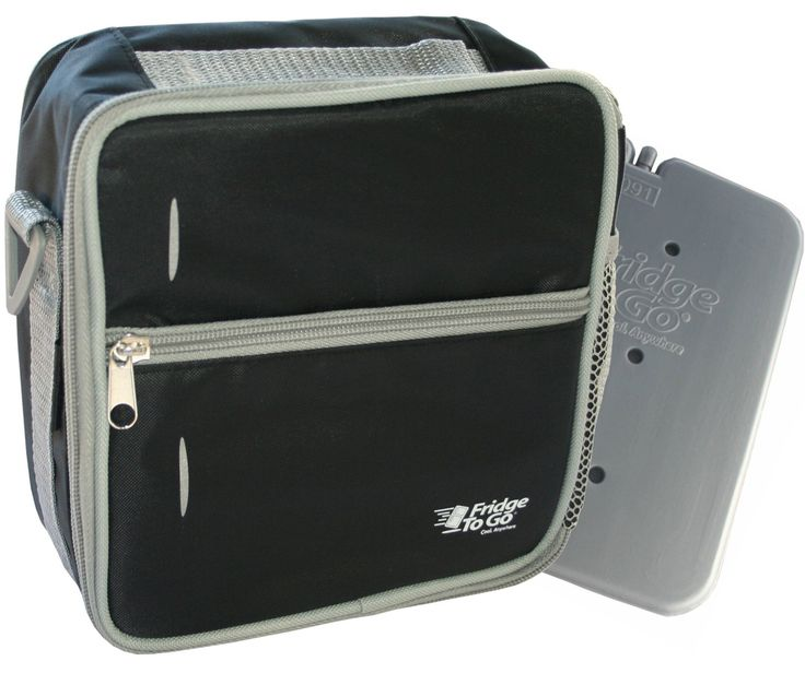 Fridge-to-go INSULATED Lunch Bag Cooler - Bags Come WITH A COOLING PANEL and COOLS UP TO 8 Hrs - Black by GetBacktoBasix