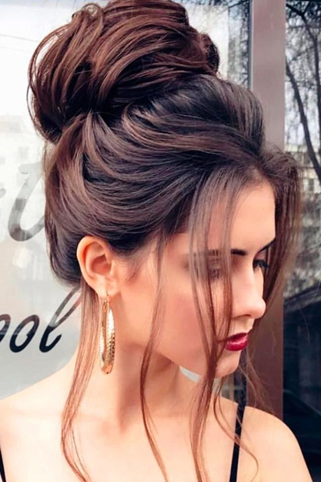 Nice 30 Simple Long Hairstyles For Party Look Ideas Long Hair Updo High Bun Hairstyles Hairstyle