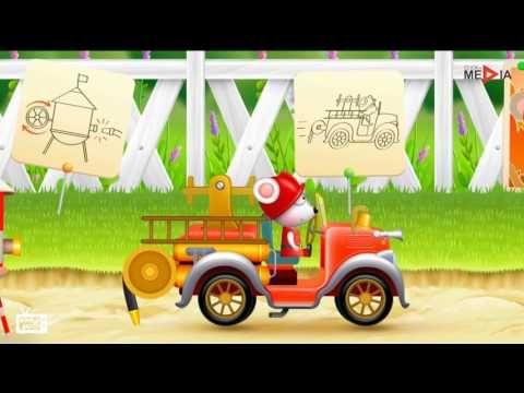 Camion dei pompieri,  Topo cartone animato, Salvataggio aereo