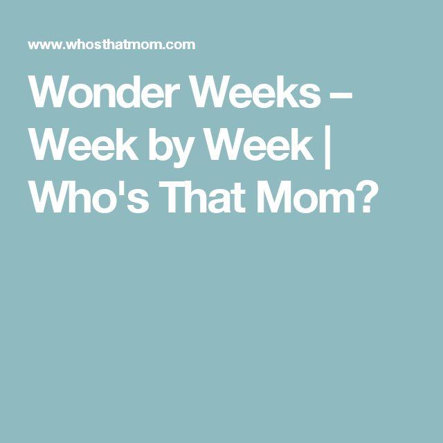 Wonder Weeks – Week by Week | Who's That Mom?