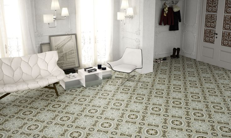 APAVISA – Hydraulic series of floor tile. Part of the Tile of Spain Quick Ship Collection.