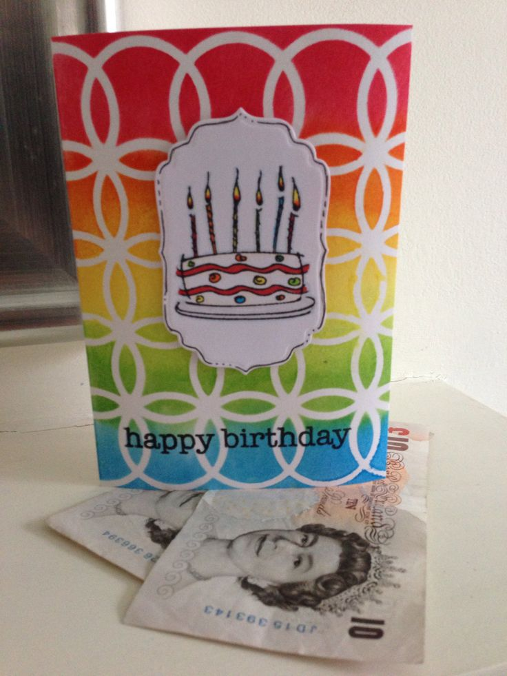 Distress ink background card by MyImaginations
