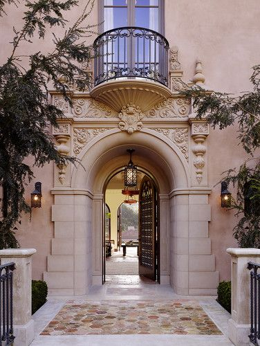 256 best images about mediterranean revival on pinterest for Mediterranean style entry doors