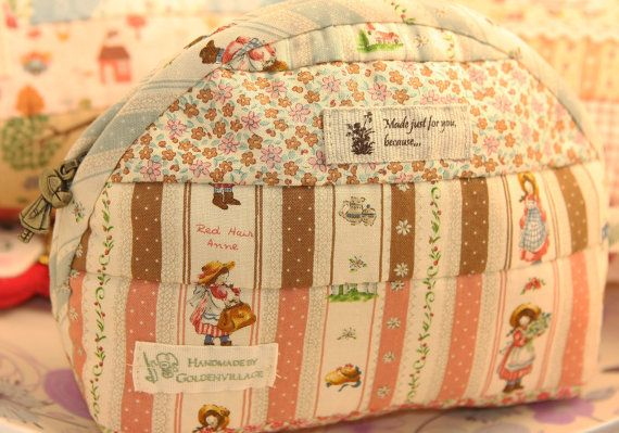 Jamie's Hand Made Finished Quilts Lovely Ann Cosmetic Pouch Girl's Secret Pouch Bag Purse-P3