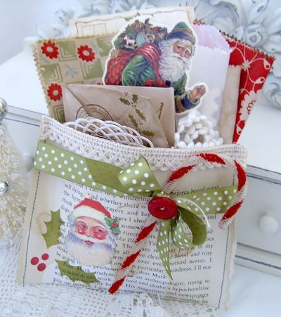 Love this Christmas pocket by Melissa Phillips. I spy some Bonnie and Camille fabric!