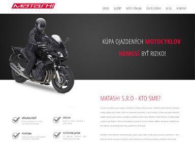 Tvorba web stránky pre Matashi.sk