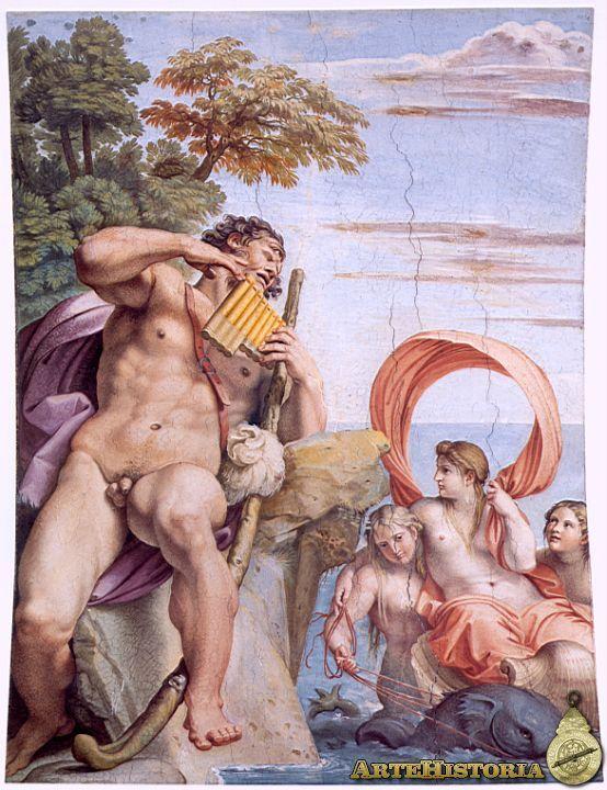 Annibale Carracci. Frescos del Palacio Farnese: Polifemo y Galatea.