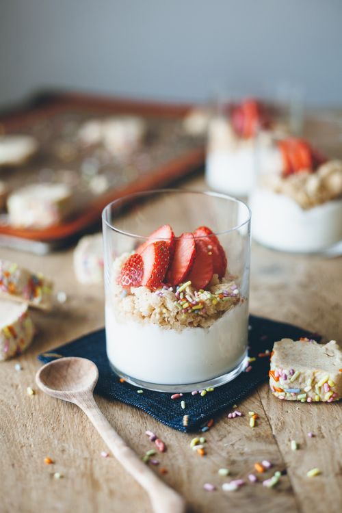Strawberry and Peanut Butter Cookie Salad from @yehmolly