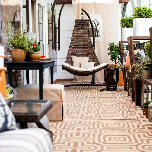 Dp Contemporary Outdoors From DC Design House On HGTV. Love The Idea Of A Hanging  Chair.