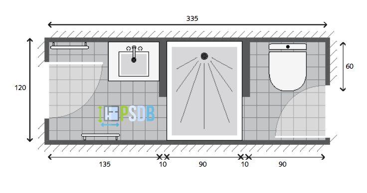 Exemple de plan de salle de bain de 4m2 plan salle de Plan salle de bain 4m2