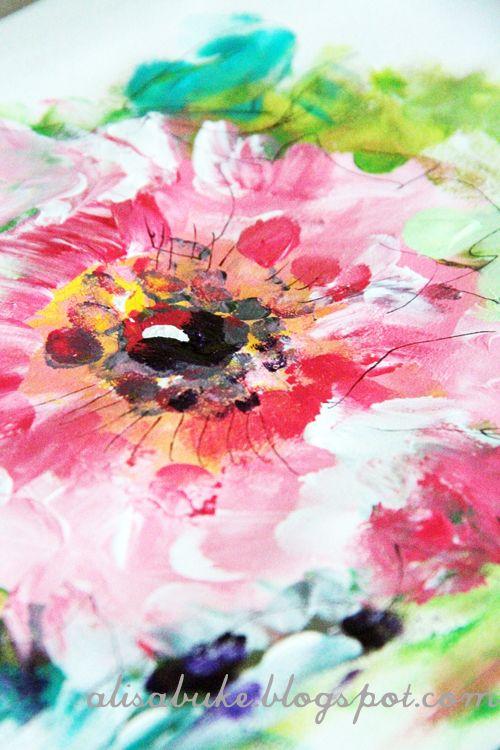 Alisa Burke: Finger Painting, Fingers, Sketchbook, Paint Flowers, Artist, Photo, Art Painting