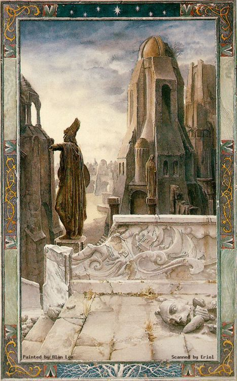 Osgiliath by Alan Lee. Osgiliath was the ancient capital of the Kingdom of Gondor. Depopulated during the Third Age, it gradually fell into ruin.