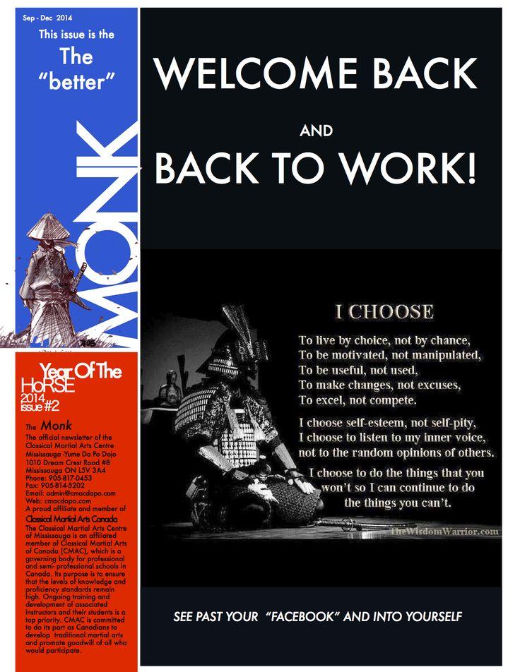 2014 Newsletter #2 - The Better Monk - Read the full newsletter here: http://www.cmacdapo.com/Files/cmac_mississauga_newsletter_2014_sep_bettermonk.pdf