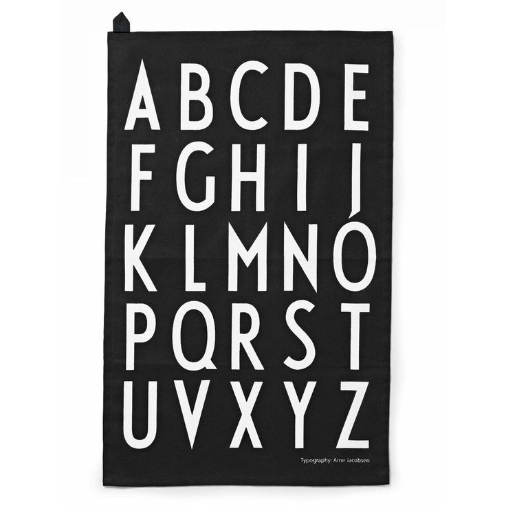 Design Letters kjøkkenhåndkle 2pk sort