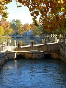 Río Tajo a su paso por el Palacio Real de Aranjuez, Madrid