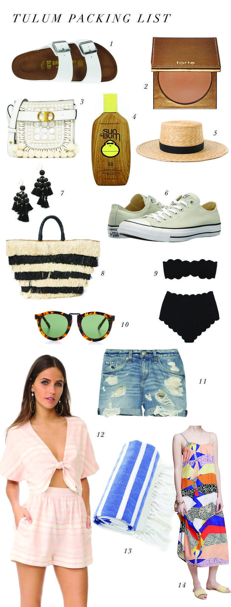 My Packing List: Tulum � Among the Colors, what to wear for a beach vacation, beach outfits, summer style