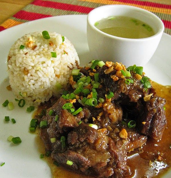 Original Beef Pares A Filipino Dish Pares Means Pairs Read On To Know Why Its Aptly Named