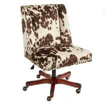 office chair with wheels. brown draper nailhead office chair with wheels