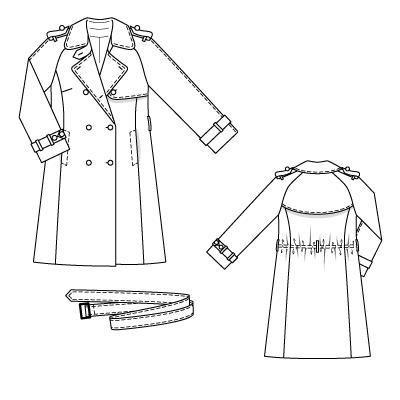 Burdastyle 09-2010-132, Trench Coat, 46-52