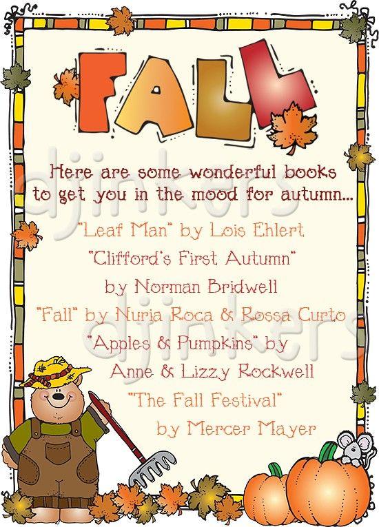 Fall books, fall border, fall leaves, fall clip art ...