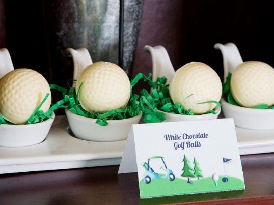 Repas Sport - Sucreries au chocolat blanc en forme de balles de golf