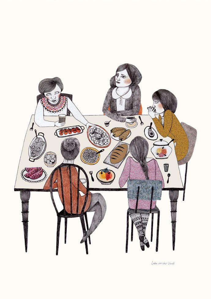 / by Lieke van der Vorst. This reminds me of my monthly women's breakfast. :)