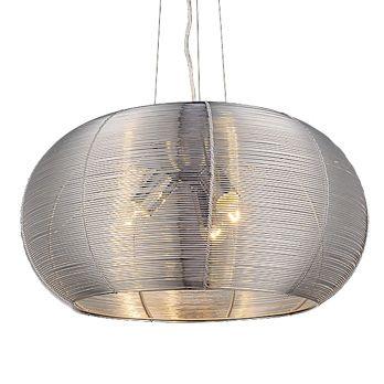 LAMPA wisząca MEDA 2884 Rabalux IP20 metalowa OPRAWA srebrny
