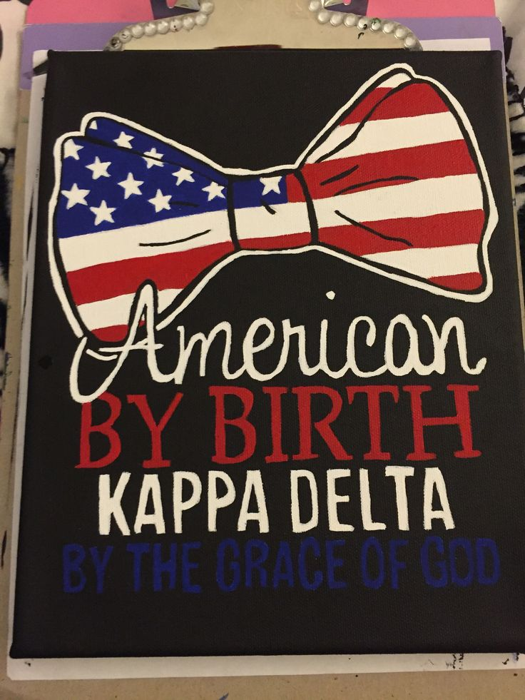 Kappa Delta, Big/Little Crafts, Big/Little Reveal, America, Canvas