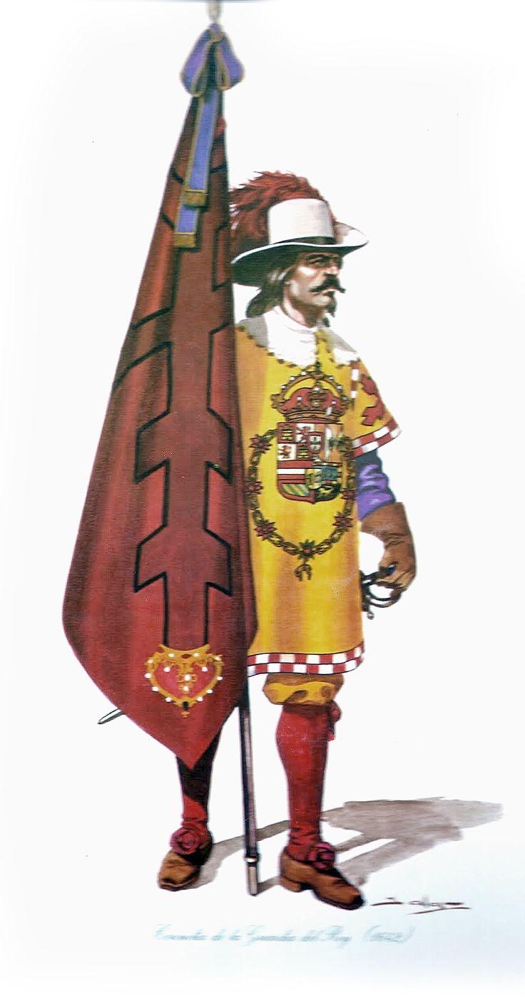 Bandera Coronela del Regimiento de Infantería del Rey
