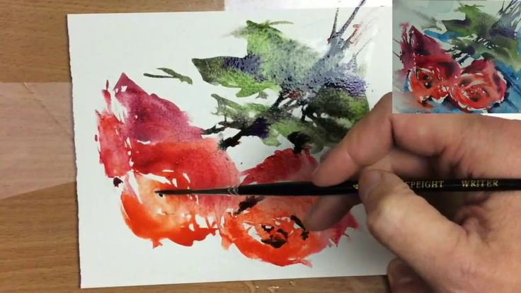 Simple Loose Watercolours 'Scarlet Roses' with Andrew Geeson