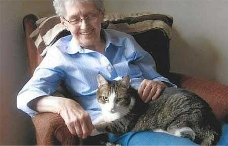 Gabby et sa maîtresse, disparues le même jour, s'aiment pour l'éternité. La vieille dame emmena Gabby chez le vétérinaire ou elle fut endormie. Ensuite elle rentra seule chez elle, s'allongea et s'endormit elle aussi pour toujours. Autre article ici : http://wamiz.com/chats/actu/le-lien-qui-les-unissait-etait-si-fort-qu-un-chat-et-son-humaine-se-sont-eteints-ensemble-7501.html