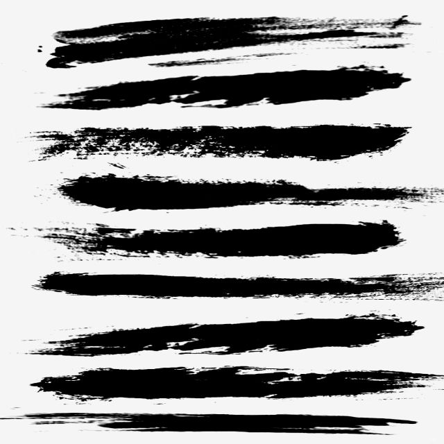 Brush Strokes Ink Style Long Strips Can Be Commercial Decoration Brush Png And Psd Brush Background Brush Stroke Tattoo Ink Brush