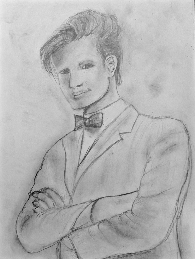 Drawing of Matt Smith as the 11th Doctor from Doctor Who