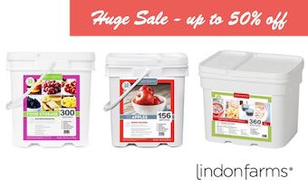 Lindon Farms Sale up to 50% off Freeze dried fuits and veggies and meals