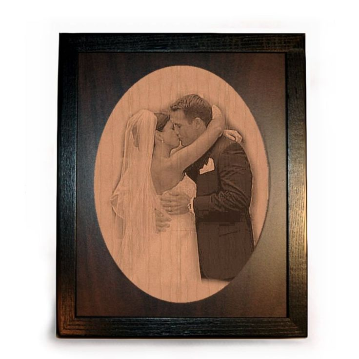 Wood Anniversary Picture Framed Pyrograph – 8″x10″