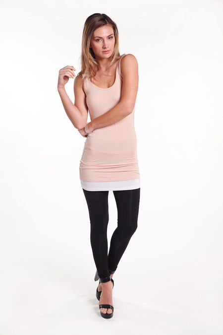 Don't you love layering? This silky soft bamboo slip is perfect for just that; longer than your average slip or vest top, you can wear it in so many ways.