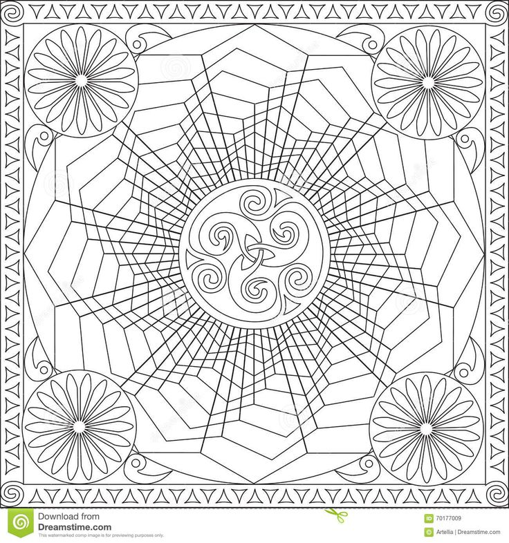 Geometric Art Coloring Book : 174 best coloring mandala images on pinterest