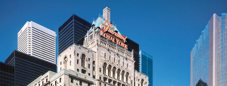 Toronto, Canada - stayed at The Fairmont Royal York in downtown.  Elegant and convenient to downtown attractions