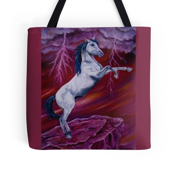 Tote Bag,   red,colorful,cool,beautiful,fancy,unique,trendy,artistic,awesome,fahionable,unusual,accessories,for sale,design,items,products,gifts,presents,ideas,horse,equine,animal,wildlife,redbubble