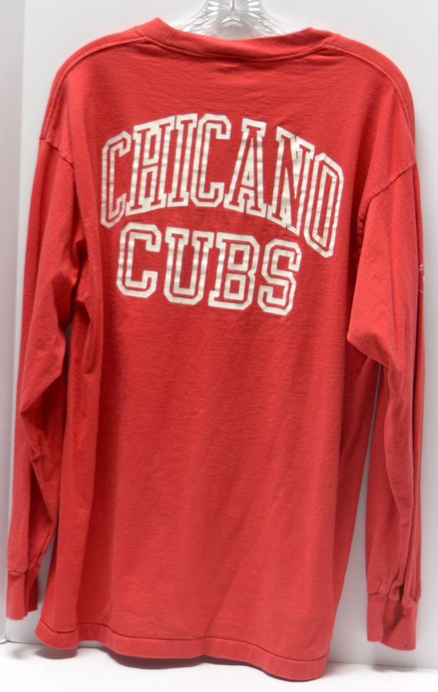 CHICANO CUBS Red Long Sleeve Shirt Mens XL Anvil 100% Cotton USA #Anvil #GraphicTee