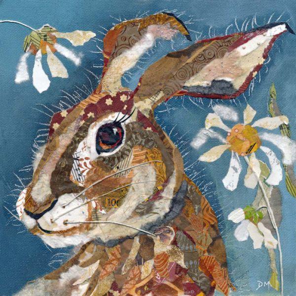 Dawn Maciocia collage 'Hare & Daisies'