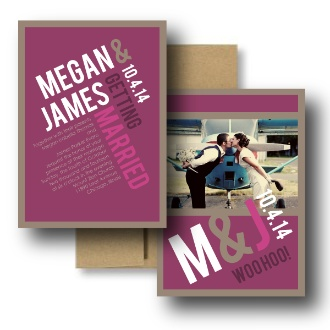Magenta Wedding Invitations, Pink Wedding Invitations