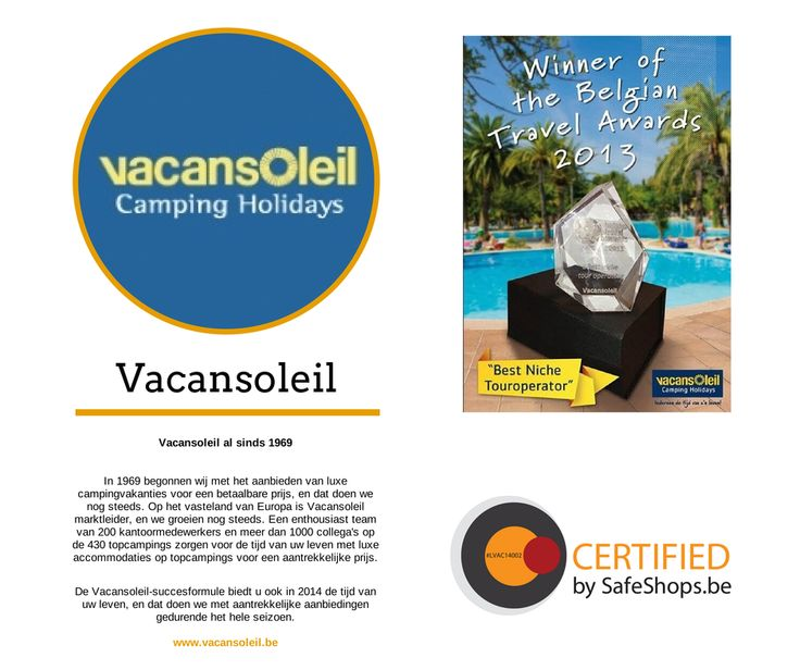 @Vacansoleil  is certified by SafeShops.be. You can shop in their webshop in a trusfull enviroment. #ecommerce #trust #security #webshop