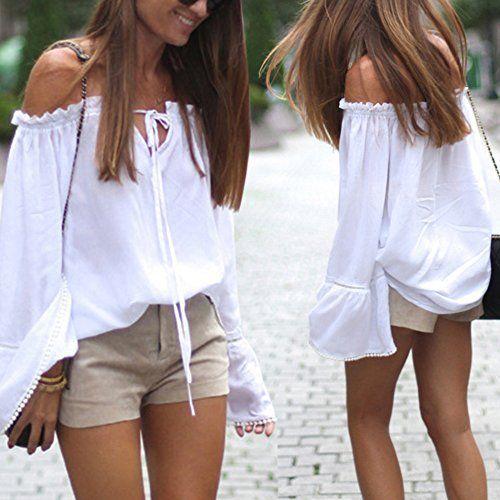 BLUSA CHIC - ALGODÓN   La más clásica de todas las blusas, ¡es por supuesto la blusa blanca!  Esta temporada se reinventa: más moderna, con manga ancha y un ligero volante.  Es la number 1 en el podio de las blusas que deberás llevar sí o sí esta temporada, la blusa con hombros descubiertos.  Es ideal para darle un toque bohemio a tu look ¡Me encanta!